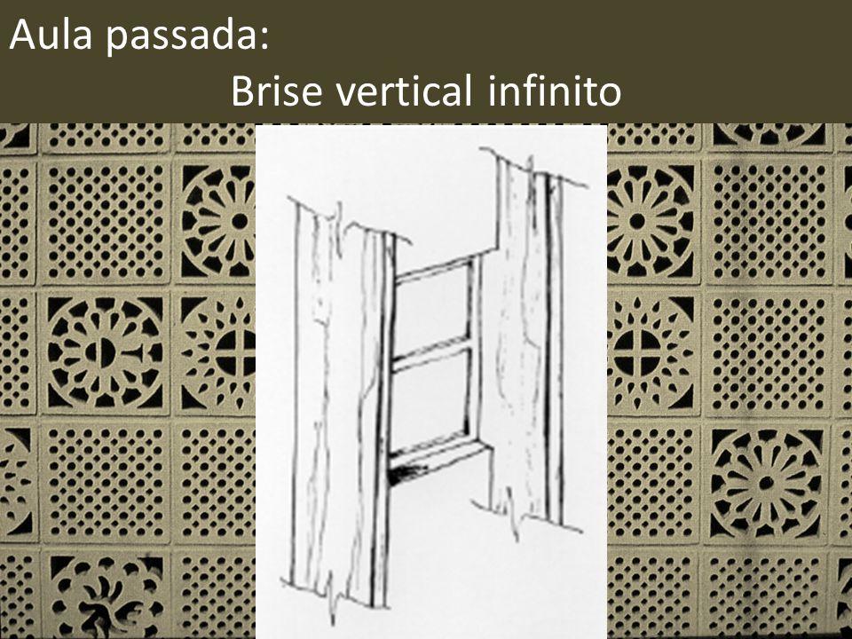 Aula passada: Brise vertical infinito