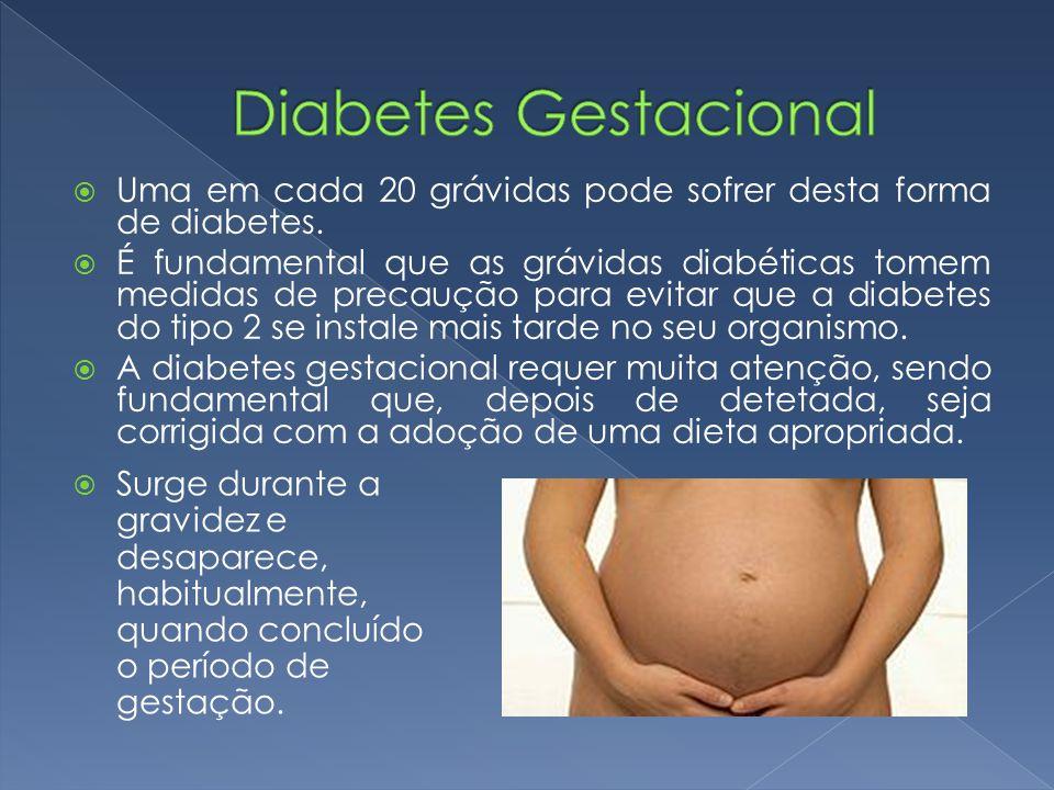  Uma em cada 20 grávidas pode sofrer desta forma de diabetes.  É fundamental que as grávidas diabéticas tomem medidas de precaução para evitar que a