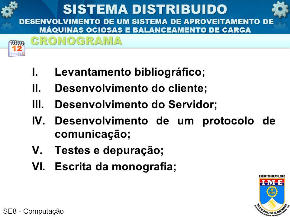 SE8 - Computação I.Levantamento bibliográfico; II.Desenvolvimento do cliente; III.Desenvolvimento do Servidor; IV.Desenvolvimento de um protocolo de c