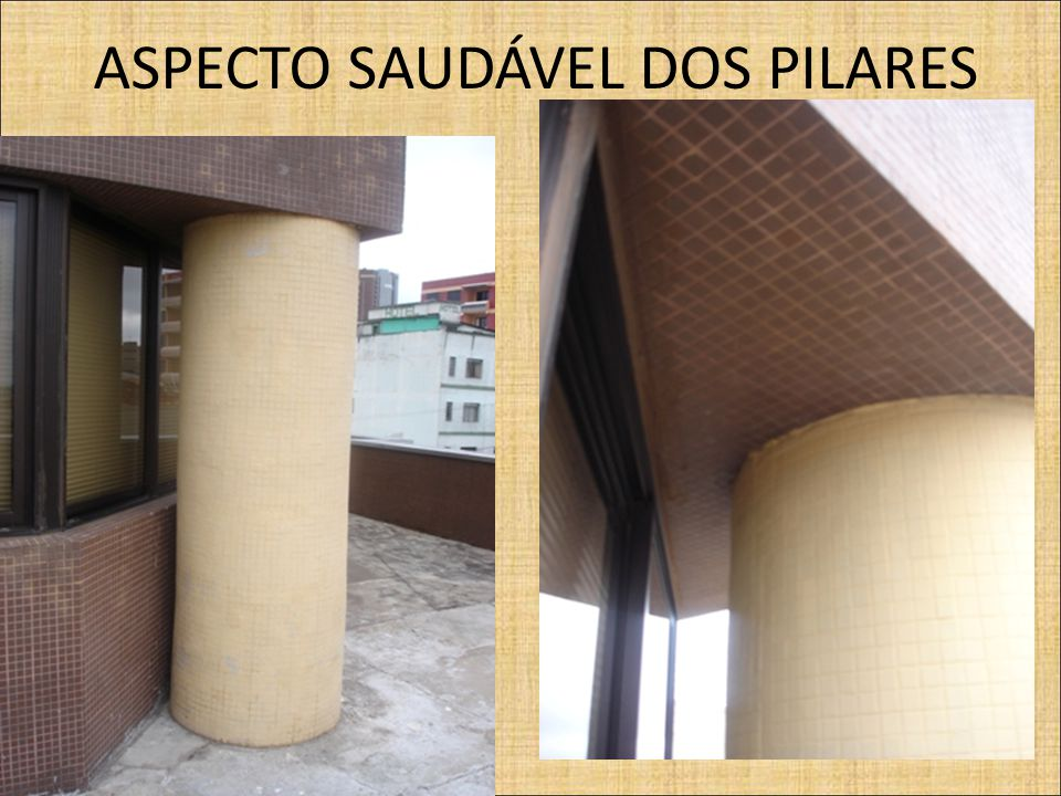 ASPECTO SAUDÁVEL DOS PILARES FOTOS DO EDIFICIO