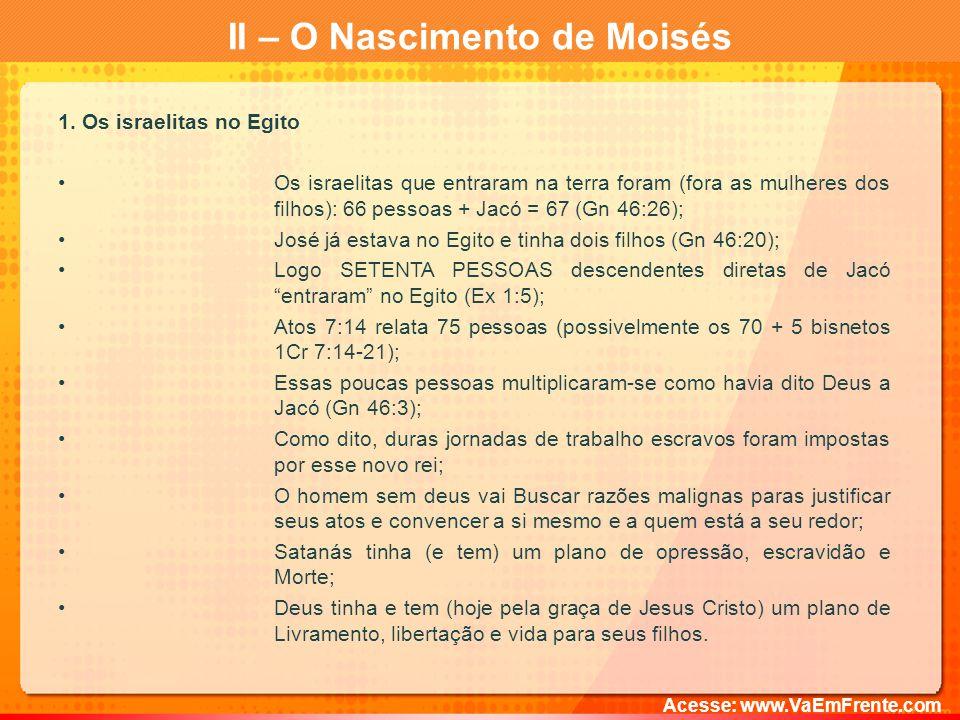 II – O Nascimento de Moisés 1.