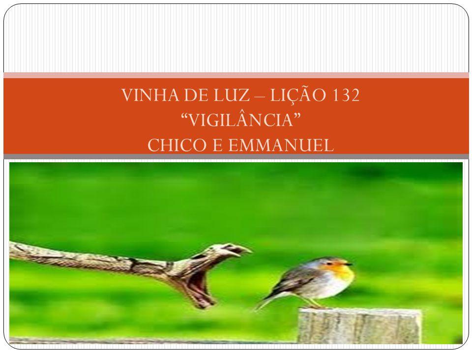 """VINHA DE LUZ – LIÇÃO 132 """"VIGILÂNCIA"""" CHICO E EMMANUEL"""