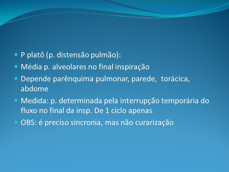 P platô (p.distensão pulmão): Média p.