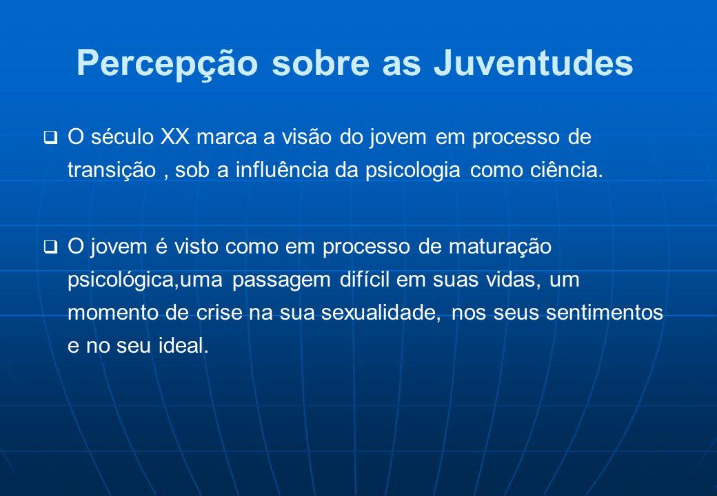 Quem são os Jovens no Brasil PopulaçãoAno 19701980199120002005 Total da população Brasileira 93.139.037118.562.549146.639.039169.799.170184.184.264 Jovens de 15 a 29 anos 25.043.15734.531.40841.220.42847.930.99550.500,000 FONTE: IBGE (censos demográficos, 1970, 1980, 1991 e 2000).