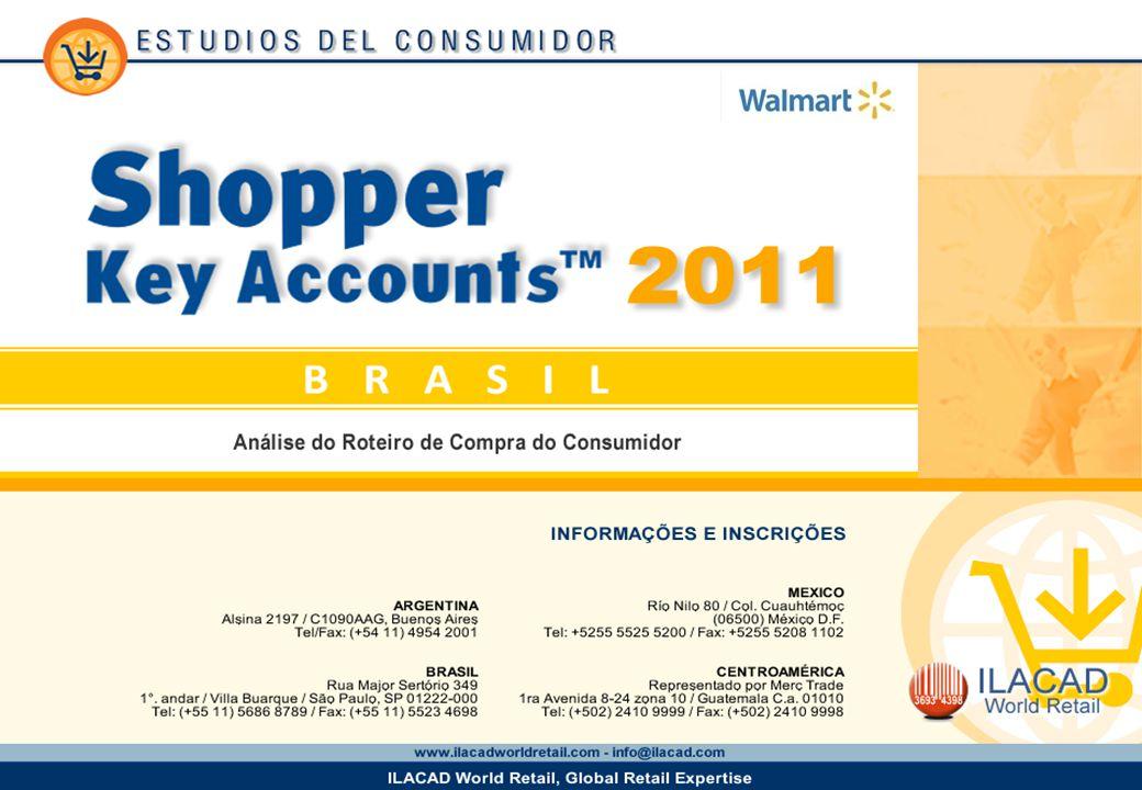 2 2 2 Key Account Walmart Os dados publicados neste estudo são informações coletadas no Shopper Brasil 2011 em uma base de donas de casa consumidoras habituais das redes de distribuição.