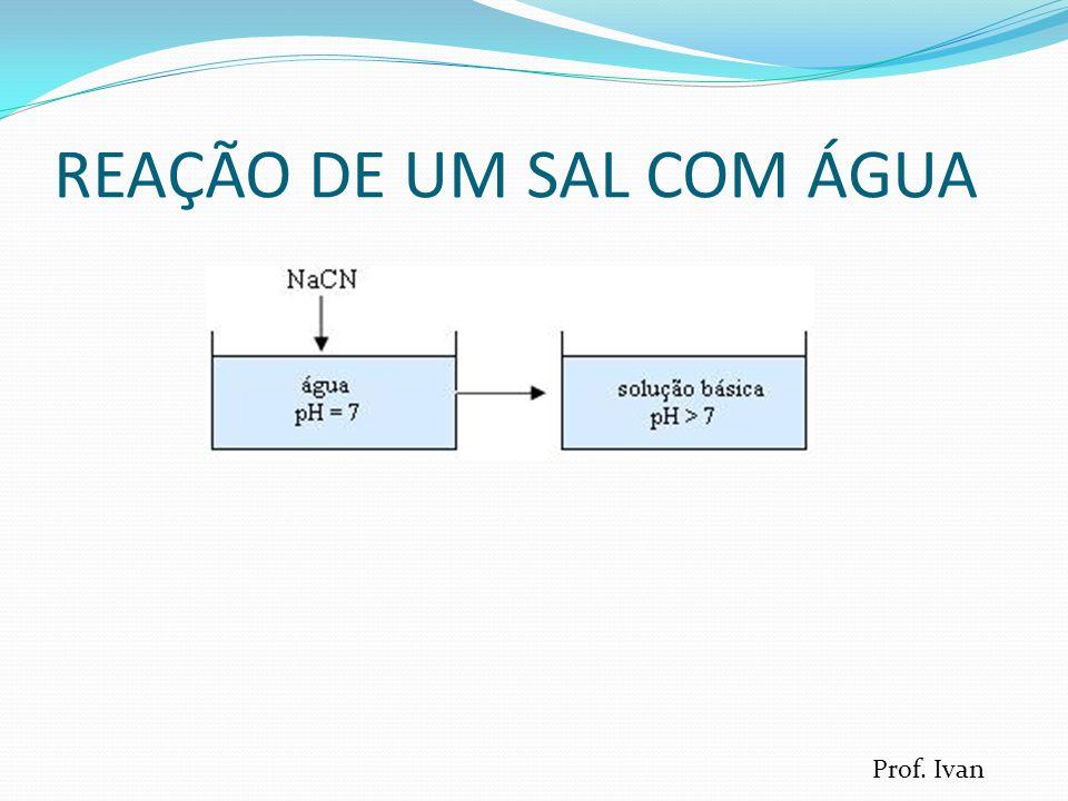 REAÇÃO DE UM SAL COM ÁGUA Prof. Ivan
