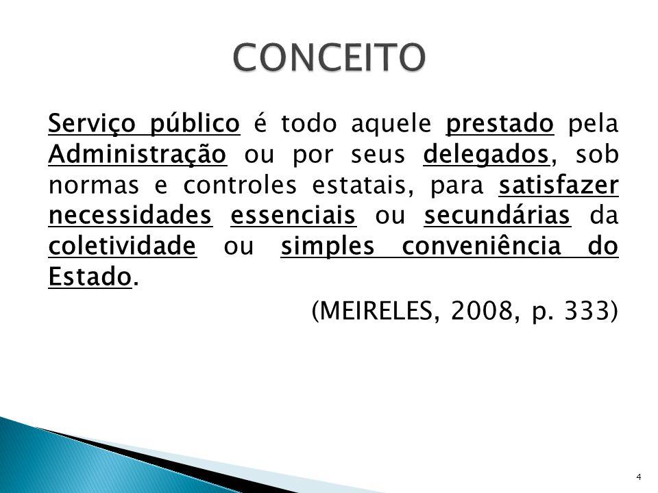  PODER PÚBLICO ⇨ DIREITO-DEVER;  Utilidade Pública;  Modificação unilateral das cláusulas da concessão, permissão ou autorização;  Poder discricionário de revogar a delegação  Indenização.