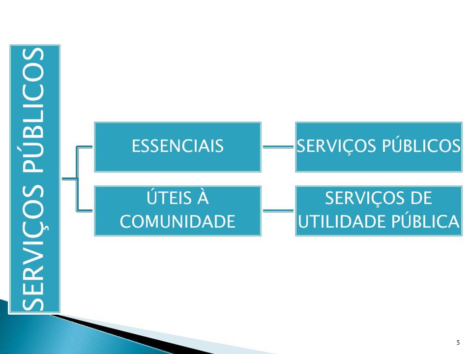 1º) permanência (continuidade do serviço); 2º) generalidade (serviço igual para todos); 3º) eficiência (serviços atualizados); 4º) modicidade (tarifas módicas); 5º) cortesia (bom tratamento para o público).