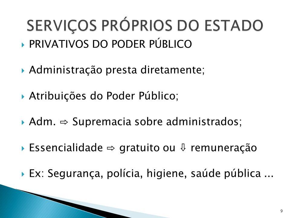 Não essenciais, mas úteis;  Administração ⇨ Remuneradamente;  Administração ⇨ Diretamente;  Administração ⇨ órgãos;  Administração ⇨ entidades descentralizadas.