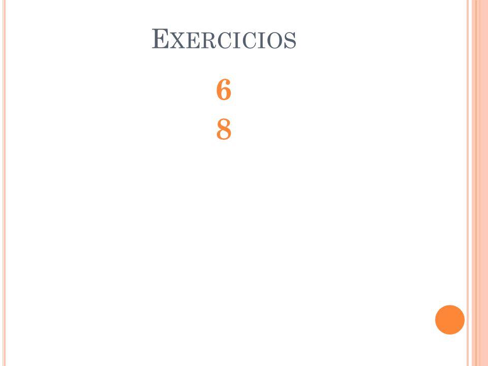 E XERCICIOS 6868