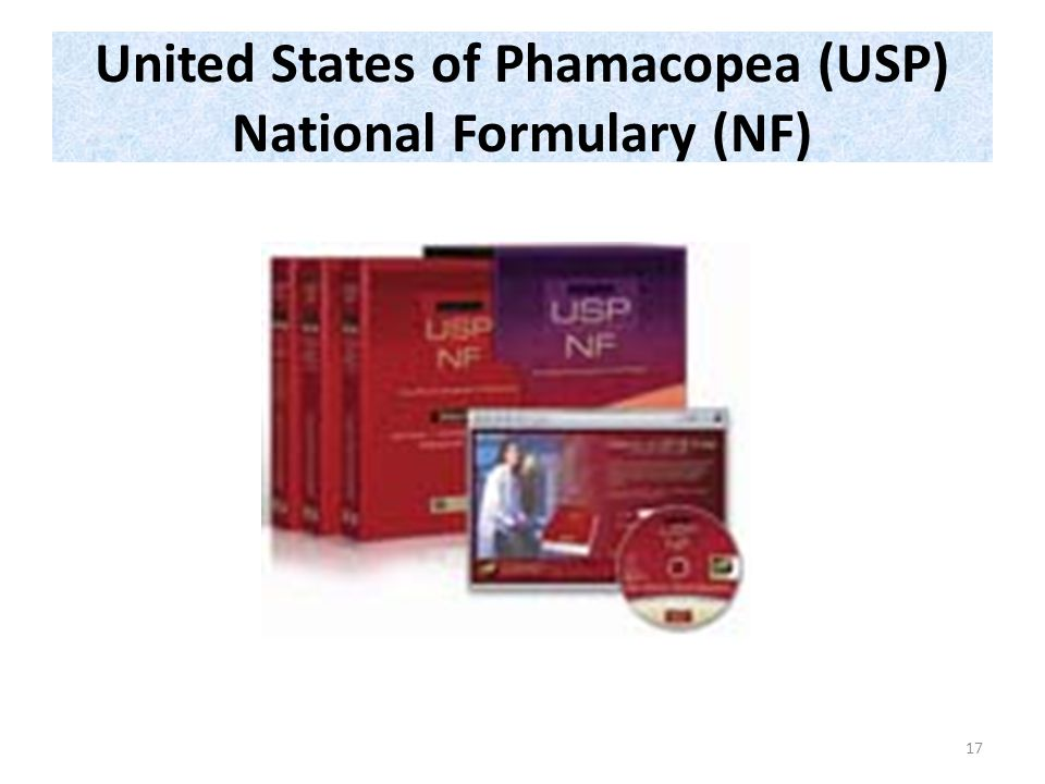 United States of Phamacopea (USP) National Formulary (NF) 17