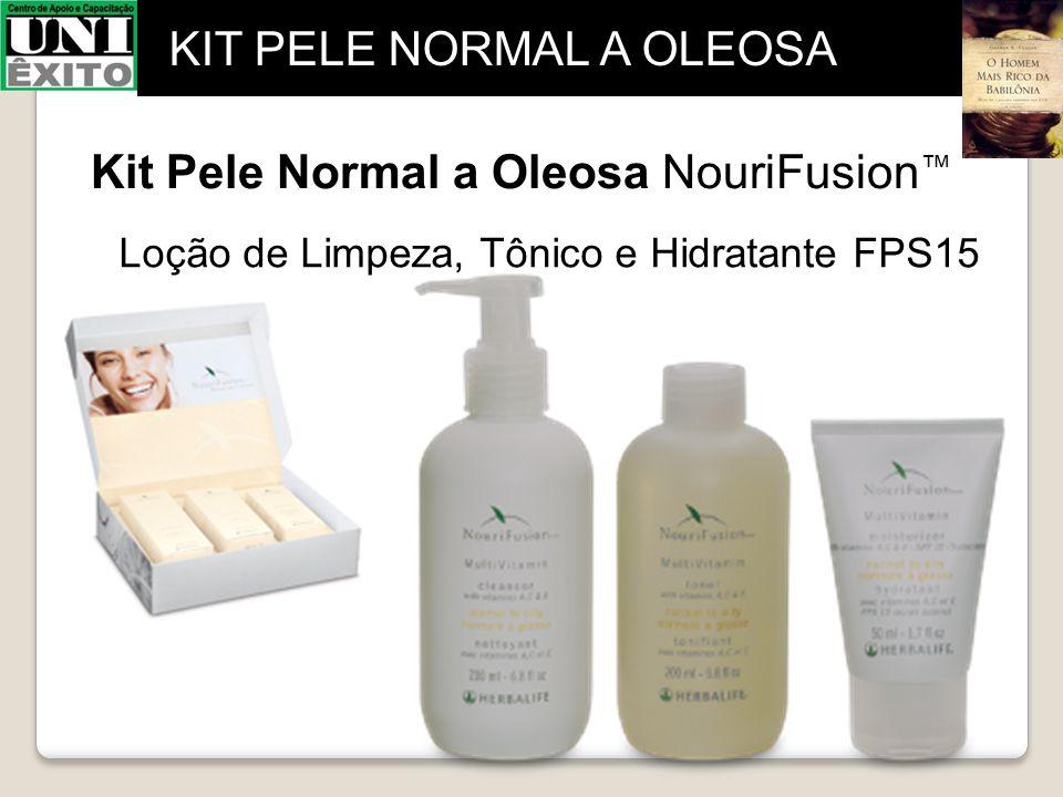 Kit Pele Normal a Oleosa NouriFusion ™ Loção de Limpeza, Tônico e Hidratante FPS15 KIT PELE NORMAL A OLEOSA