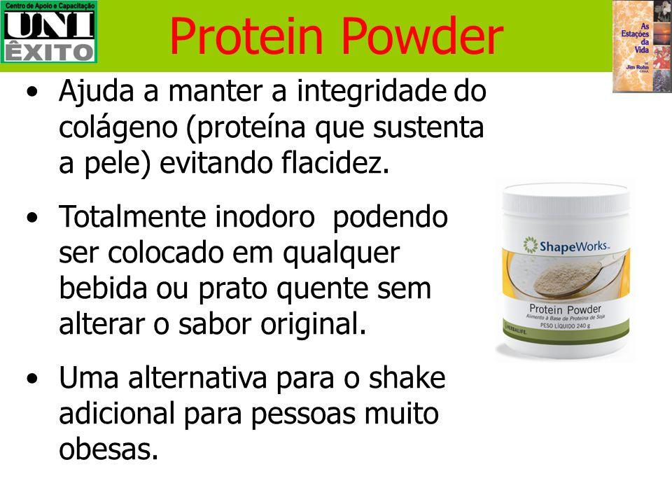 Shake (Pó Nutricional) Alta qualidade de proteína de soja (9g de proteína por refeição) Somente 240 Kcal (duas colheres de sopa em um copo de leite se