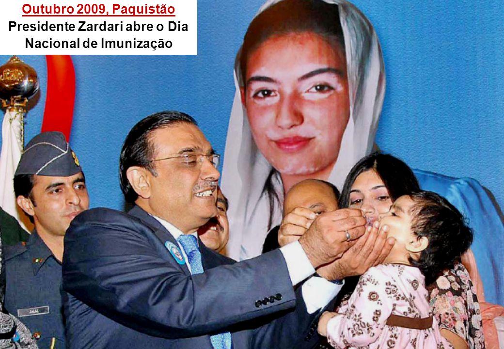 Outubro 2009, Paquistão Presidente Zardari abre o Dia Nacional de Imunização