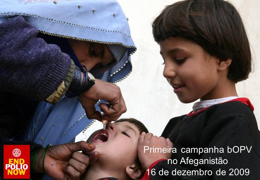 Primeira campanha bOPV no Afeganistão 16 de dezembro de 2009