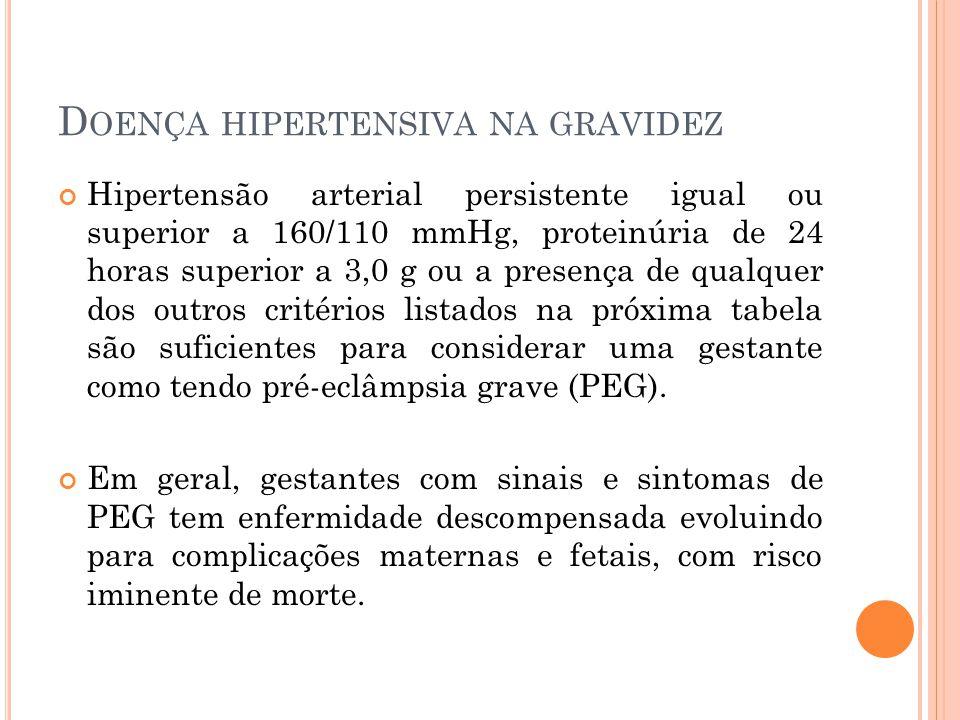 D OENÇA HIPERTENSIVA NA GRAVIDEZ