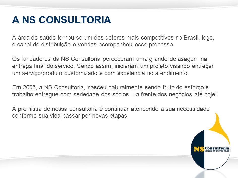 A NS CONSULTORIA A área de saúde tornou-se um dos setores mais competitivos no Brasil, logo, o canal de distribuição e vendas acompanhou esse processo