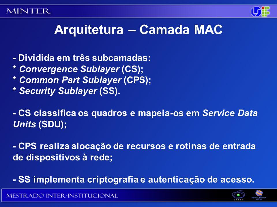 - Dividida em três subcamadas: * Convergence Sublayer (CS); * Common Part Sublayer (CPS); * Security Sublayer (SS).
