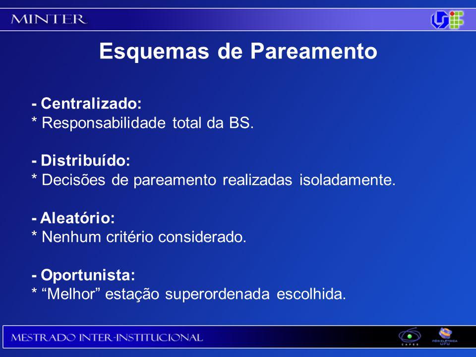 - Centralizado: * Responsabilidade total da BS.