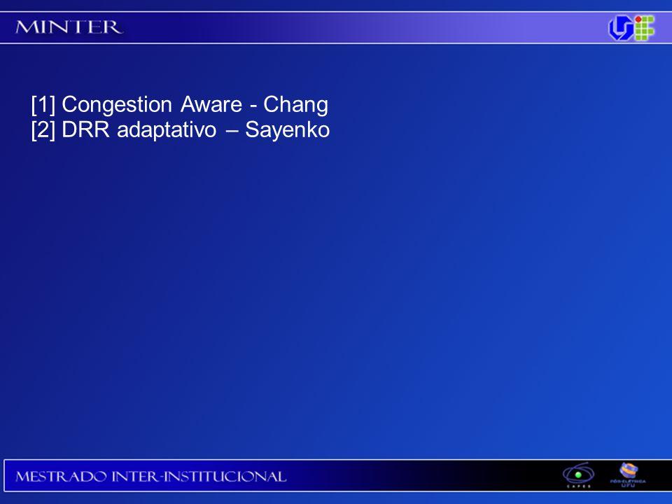 [1] Congestion Aware - Chang [2] DRR adaptativo – Sayenko