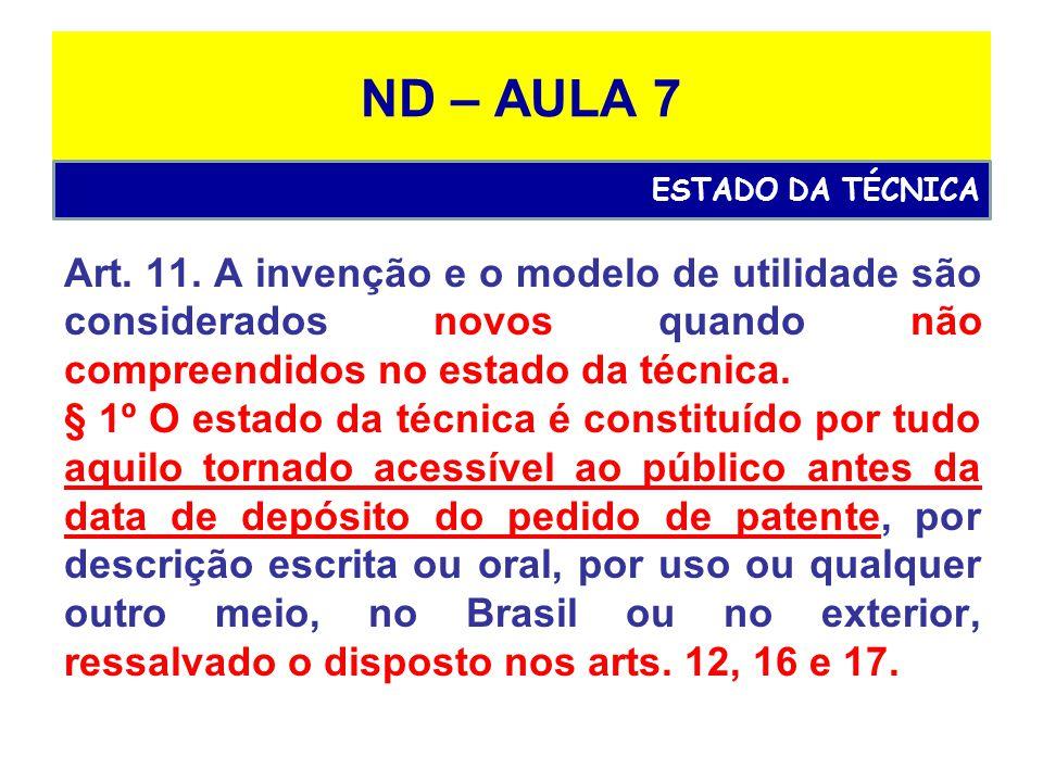 ND – AULA 7 Art.11.