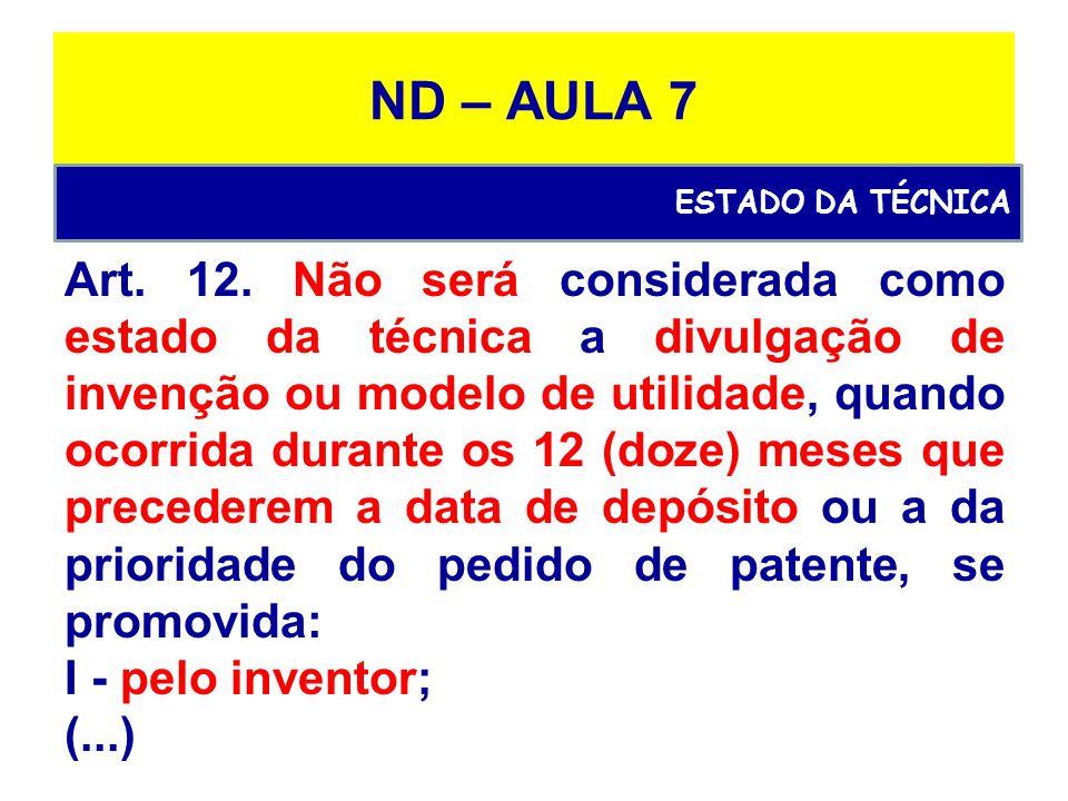 ND – AULA 7 Art.12.