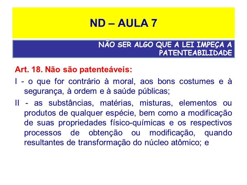 ND – AULA 7 Art.18.