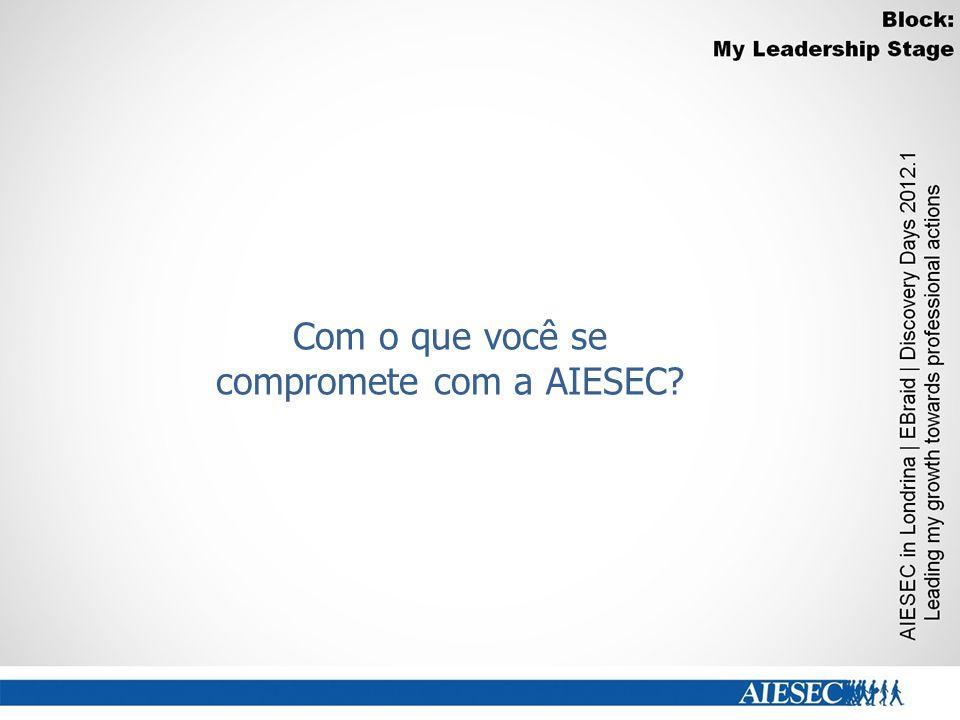Com o que você se compromete com a AIESEC