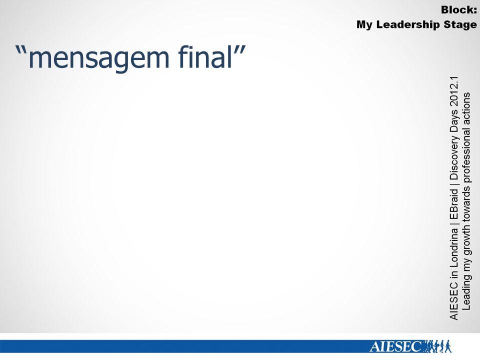 mensagem final''
