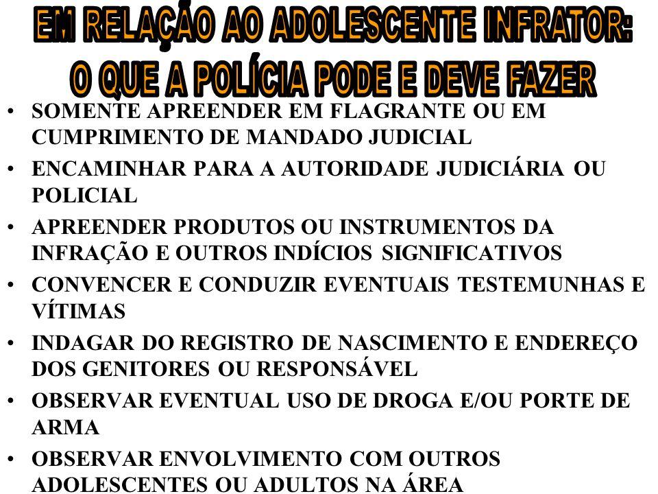 –A–Art. 106. Nenhum adolescente será privado de sua liberdade senão em flagrante de ato infracional ou por ordem escrita e fundamentada da autoridade