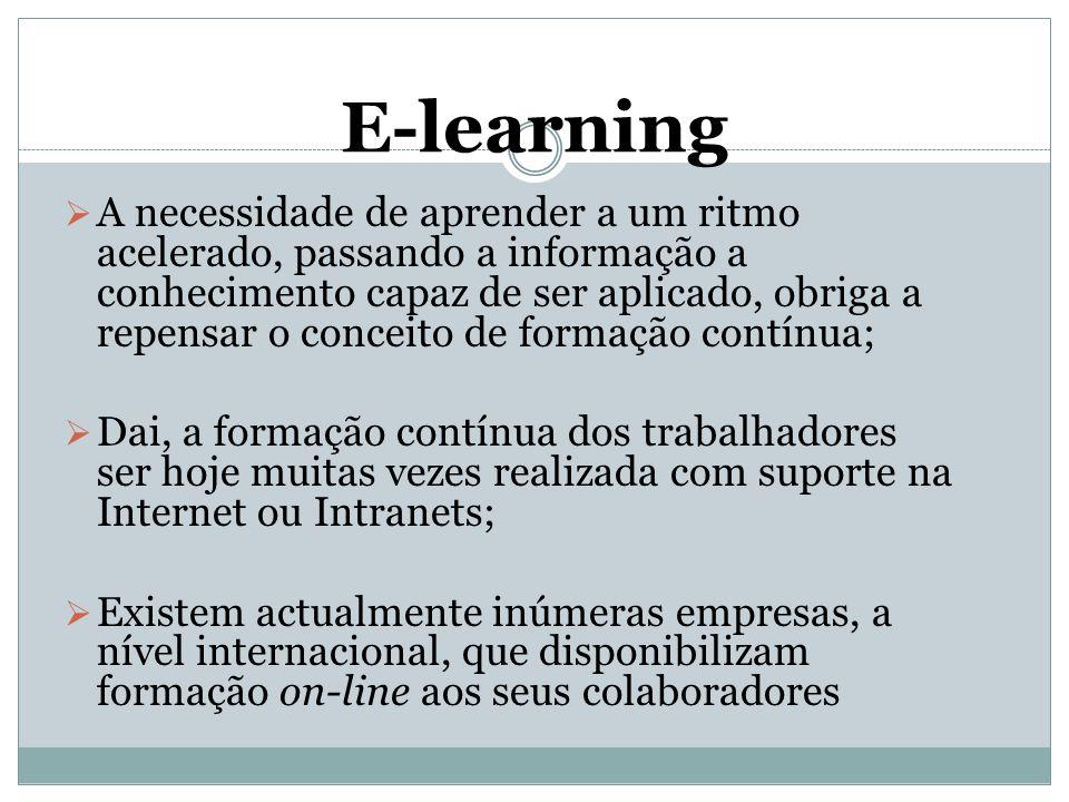  A necessidade de aprender a um ritmo acelerado, passando a informação a conhecimento capaz de ser aplicado, obriga a repensar o conceito de formação