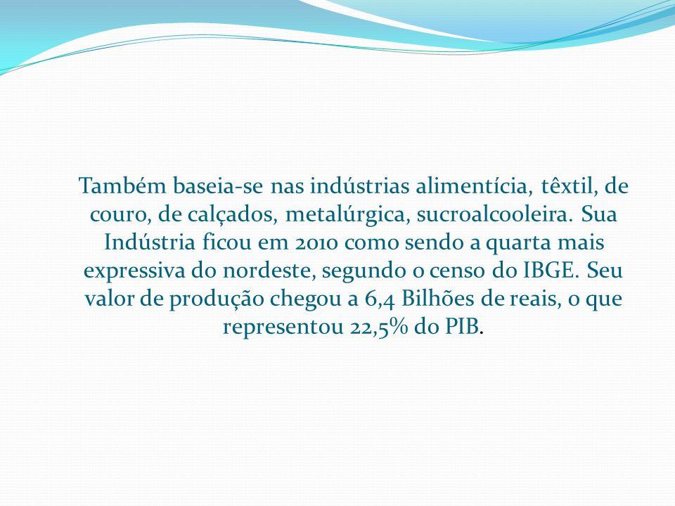 A cana-de-açúcar é um dos principais produtos agrícolas, a paraíba é o terceiro maior produtor de cana-de-açúca.