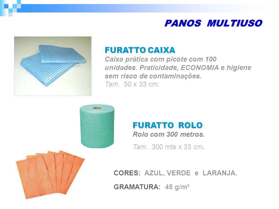 PANOS MULTIUSO FURATTO CAIXA Caixa prática com picote com 100 unidades.