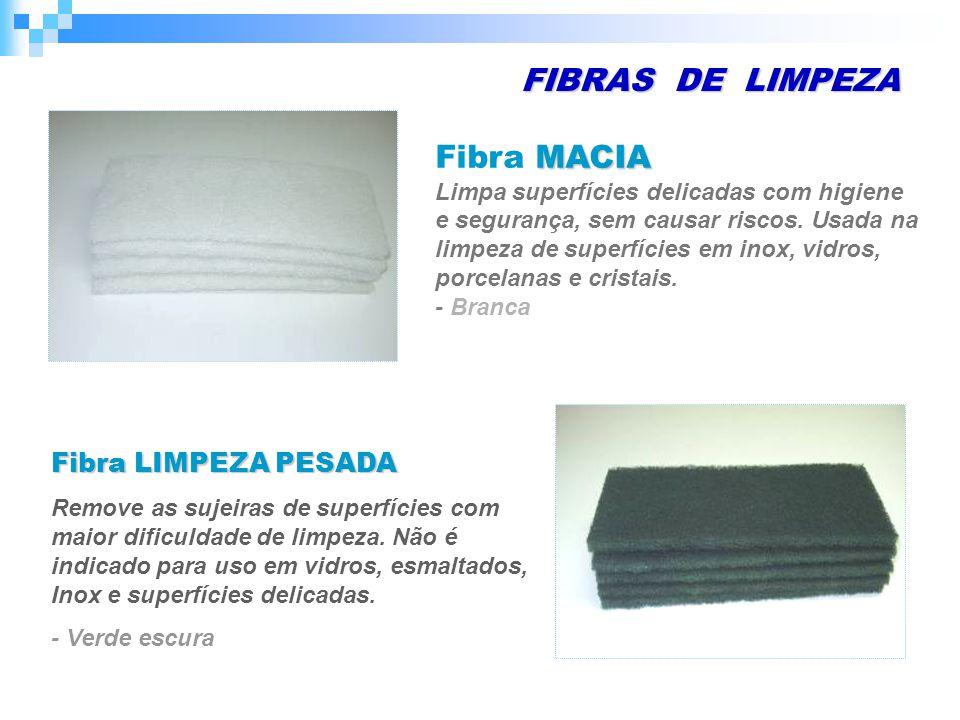 FIBRAS DE LIMPEZA MACIA Fibra MACIA Limpa superfícies delicadas com higiene e segurança, sem causar riscos.