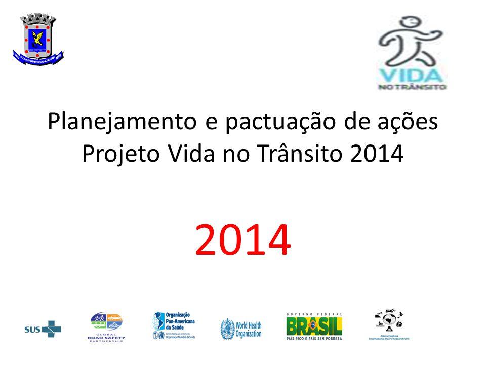 Planejamento e pactuação de ações Projeto Vida no Trânsito 2014 2014