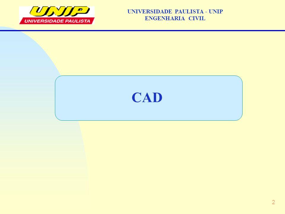 33 UNIVERSIDADE PAULISTA - UNIP ENGENHARIA CIVIL OBRAS QUE UTILIZARAM O CAD: 13 – Concreto: CAD: Obras