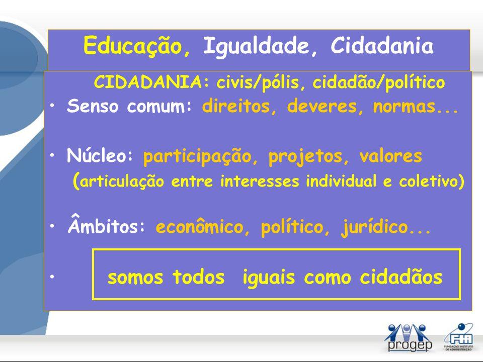 Democracia: dois mal entendidos - a escola não é uma democracia assimetria na relação professor/aluno - a família não é uma democracia assimetria na relação pais/filhos