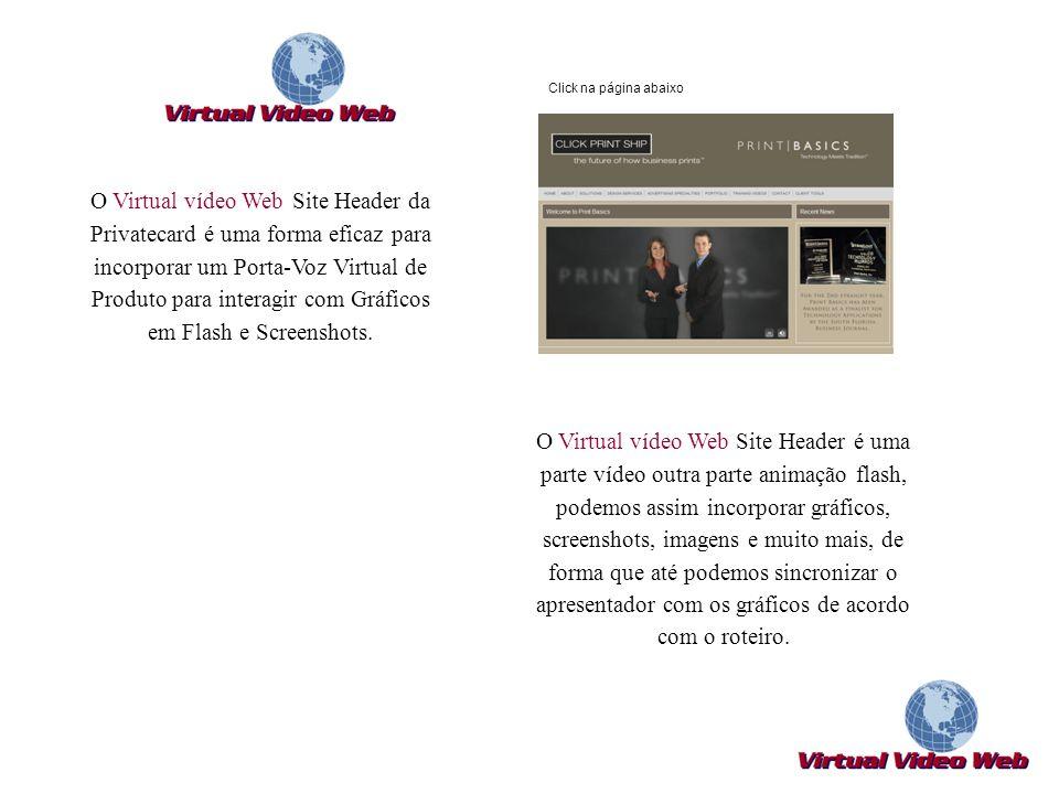 O Virtual vídeo Web Site Header é uma parte vídeo outra parte animação flash, podemos assim incorporar gráficos, screenshots, imagens e muito mais, de