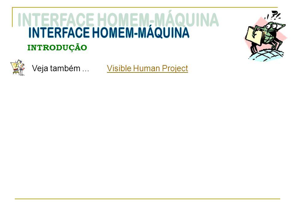 INTRODUÇÃO Veja também... Visible Human ProjectVisible Human Project