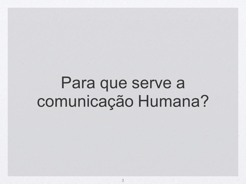 3 Para que serve a comunicação Humana?