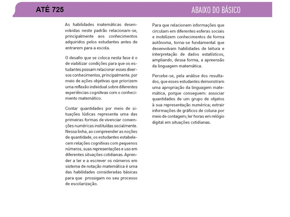 APROPRIAÇÃO DE RESULTADOS – SEAPE 2011 ATÉ 725