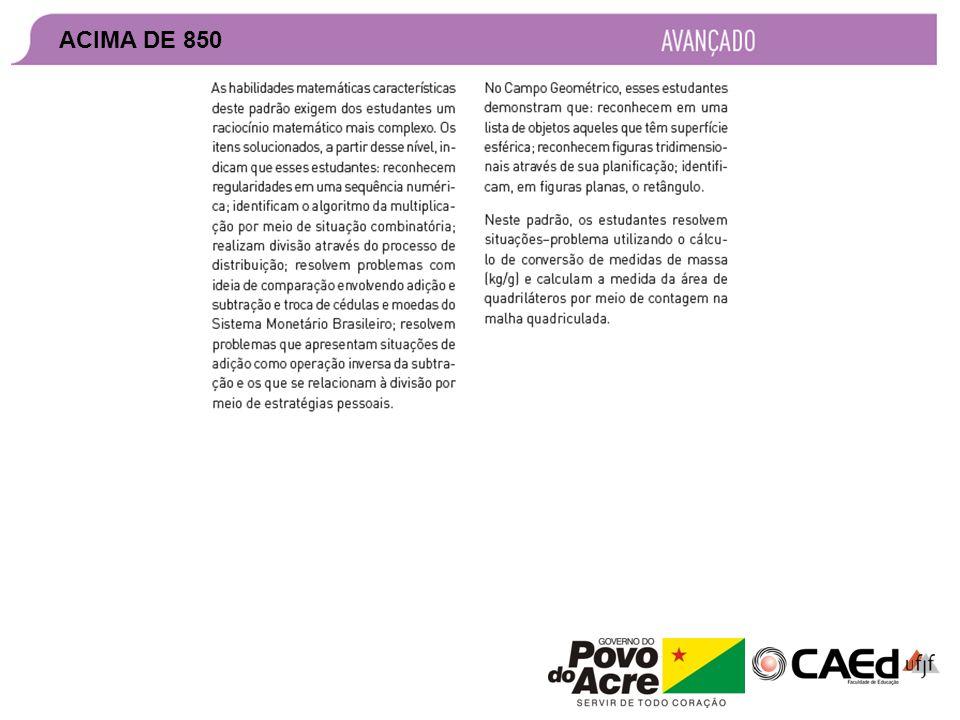 APROPRIAÇÃO DE RESULTADOS – SEAPE 2011 ACIMA DE 850