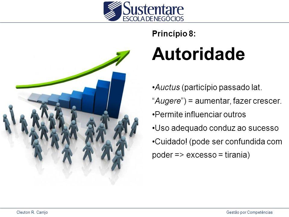 Cleuton R.Carrijo Gestão por Competências Princípio 8: Autoridade Auctus (particípio passado lat.