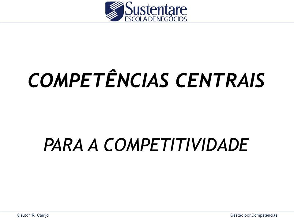 Cleuton R. Carrijo Gestão por Competências COMPETÊNCIAS CENTRAIS PARA A COMPETITIVIDADE