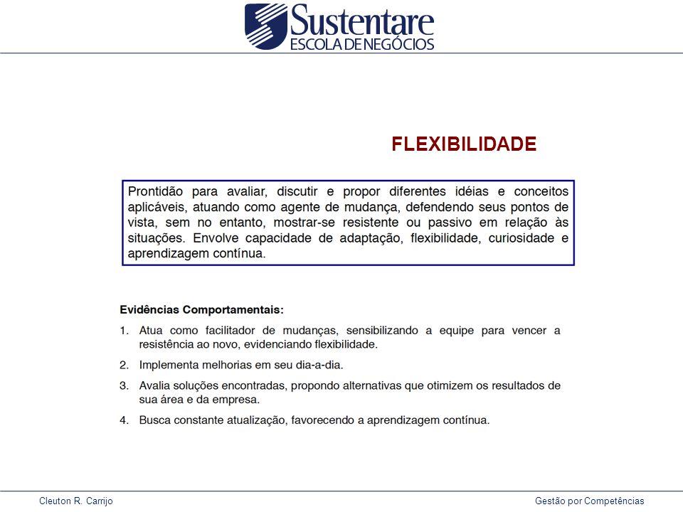 Cleuton R. Carrijo Gestão por Competências FLEXIBILIDADE
