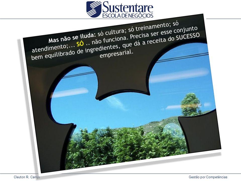 Cleuton R. Carrijo Gestão por Competências Mas não se iluda: só cultura; só treinamento; só atendimento;... SÓ.. não funciona. Precisa ser esse conjun