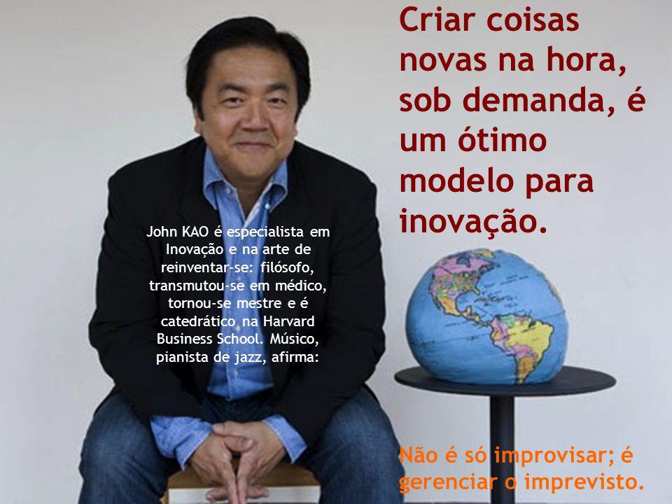 Cleuton R. Carrijo Gestão por Competências John KAO é especialista em Inovação e na arte de reinventar-se: filósofo, transmutou-se em médico, tornou-s