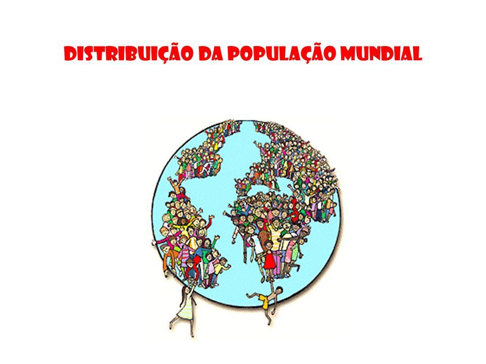 População absoluta Número total de habitantes de uma região. 1 KM = 1 HABITANTE