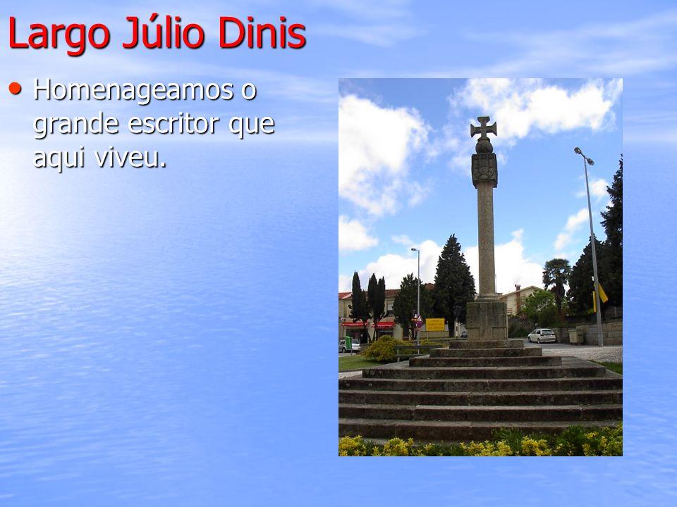 Largo Júlio Dinis Homenageamos o grande escritor que aqui viveu. Homenageamos o grande escritor que aqui viveu.