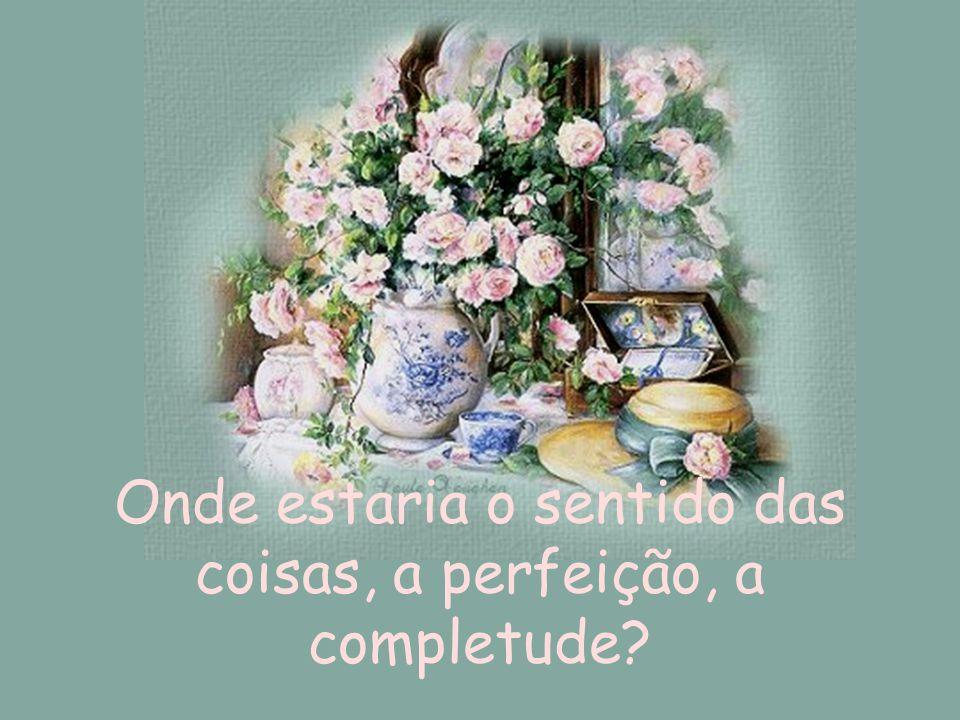 Onde estaria o sentido das coisas, a perfeição, a completude?